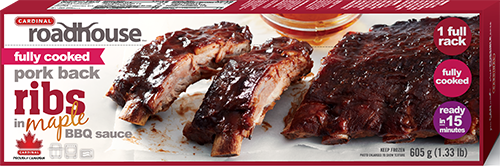 Fully Cooked Maple Pork Back Ribs