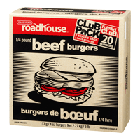 Roadhouse Beef Burgers 1/4lb