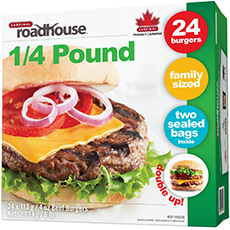 1/4 Pound Beef Burger - 24 Burger Pack